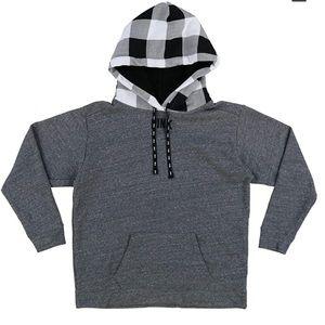 Pink Hoodie Pullover Sweatshirt Sherpa Lined Hood